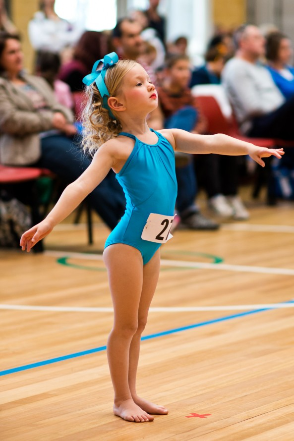 Tilly performs ballet routine