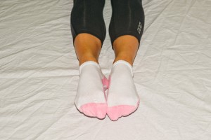 1. Start with your feet in parallel position