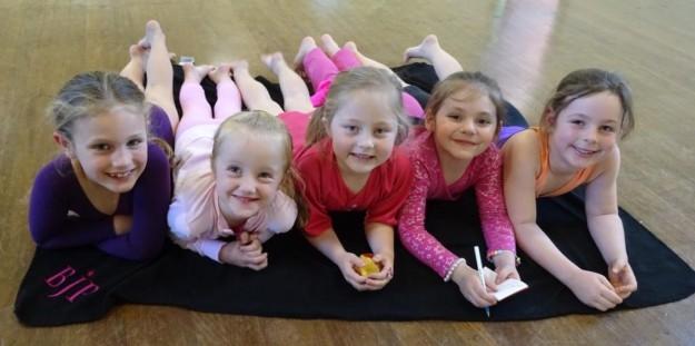 Stroud girls love the stretch mat