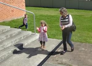practice with grandma!